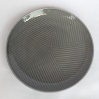 Dinner Plate Grey Motif D.27cm IP| Ekspor Murah