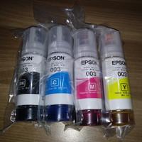 Tinta Epson 003 100 % Original TANPA BOX 1 set CMYK