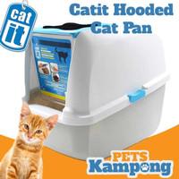 Bak pasir kucing besar dengan tutup anti bau Catit hooded cat pan