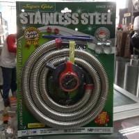 Selang gas Super Gas stainless + regulator winn w 900 m w900m w-900m