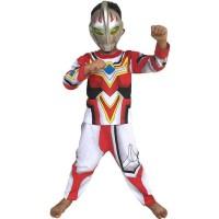 HOT SALE Baju Anak Kostum Topeng Superhero Ultraman Go Terjarmin
