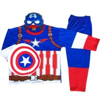 HOT SALE Baju Anak Kostum Topeng Superhero Captain America Terjarmin