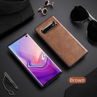 X-Level Samsung S10 New Leather Case Series Silicone lentur casing hp