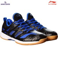 Clear Sale !!! Sepatu Badminton Lining Brio II AYTM091-5 Black / Blue