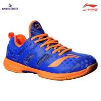 Clear Sale !!! Sepatu Badminton Lining Brio II AYTM091-6 Blue / Orange