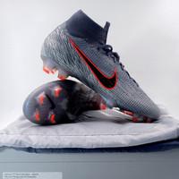 Sepatu Bola Nike Superfly 6 Elite FG Wolf Grey Blue AH7365-008 Ori