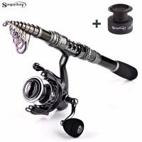 Sougayilang Joran Pancing Fishing Rod Spinning Reel Teleskopik