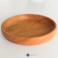 Amy Circle Tray / Nampan Kayu Bulat / Wooden Tray