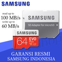 Samsung MicroSD 64GB EVO PLUS 100MB/s Micro SD Card Samung 64 GB