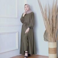 gamis set Stelan muslim dress wanita TANIA SET
