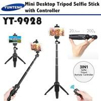 mini tripod yunteng yt 9928 tongsis + tripod Bluetooth yunteng yt 9928