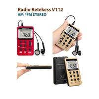 RETEKESS V112 Radio FM/AM Stereo, Radio Pocket cocok untuk berbagai ak