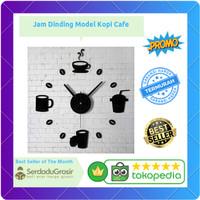 Jam Dinding Raksasa DIY 40-70cm Diameter Model Kopi Cafe