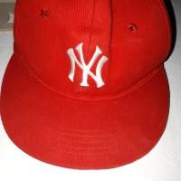 Topi Rapidy model snapback warna merah NY NewYork bahan rafel