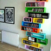 3pcs rak frame model melayang/floating shelves /rak buku komic