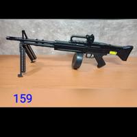 M159 Premium Mainan Spring Kokang Senapan M60VN AEG Airsoft Sniper