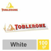 TOBLERONE WHITE CHOCOLATE WITH HONEY & ALMOND NOUGAT 100 Gram