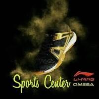 NEW !! Sepatu Badminton Lining OMEGA AYTM087 / AYTM 087 Black Gold