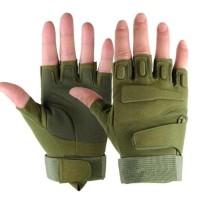 HOT SALE Sarung tangan Airsoft Glove Tactical BLACKHAWK Half Finger