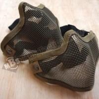HOT SALE Masker Jaring / Half Mask Mesh Double Strap Tan - Black