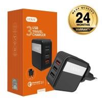 Charger 3USB Port Vidvie PLE205Q Qualcomm Quickcharge 3.0