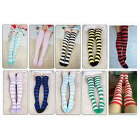 Kaos Kaki Belang Stripe Strip Overknee Cosplay Import