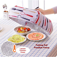Penutup Makanan Tudung Saji Penahan Panas Lipat Dengan Alumunium foil