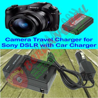 Camera Travel Charger for Sony DSLR with Car Charger NP-FW50 - MALANG