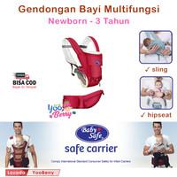 Baby Safe Hip Seat BC006 Carrier Bayi Multifungsi Newborn to 3 Tahun