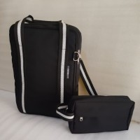Tas Travel 4 in 1Free Handbag (Hitam)