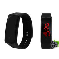 Jam Tangan Digital LED Sport Watch Jam Tangan Olahraga Full Black