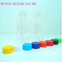 botol kotak 250 ml / botol cimori 250 ml / botol susu 250 ml