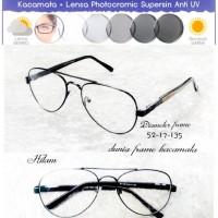 Frame kacamata baca Aviator minus Vintage Gratis Lensa Photocromic