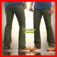 Celana Cutbray Cowok / Celana Panjang Pria Model Cutbray Hijau Army