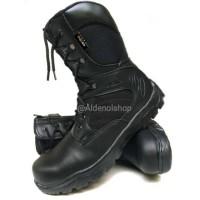 Sepatu PDL SAFETY UJUNG BESI Motec hitam murah tali seleting samping t