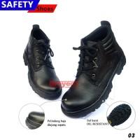 Sepatu Safety Pria Boots Tali Warna Hitam 03