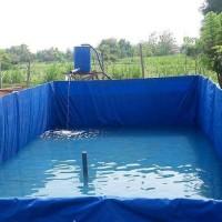 Terpal kotak kolam PVC ukuran custom
