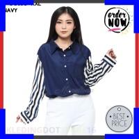 Promo Baju Kemeja Atasan XXL Jumbo Kerja Lengan Panjang Murah Wanita