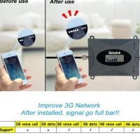 Penguat Sinyal 3G 4G WCDMA LTE 2100Mhz LCD Display Single Band Booster