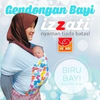 GENDONGAN BAYI GAYA HANAROO | IZZATI BABY WRAP - BIRU TORQUEST, POLOS