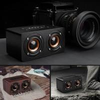 speaker bluetooth wood mini subwoofer-speaker kayu hifi sound
