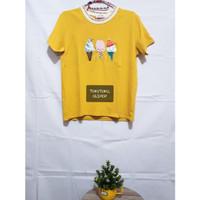T-shirt Yellow Ice Cream / Kaos korea / Kaos Lucu