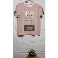 T-shirt Pink Cat / Kaos Korea / Kaos Lucu