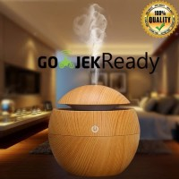 Air Humidifier Essential Oil Aroma Terapi Diffuser Desain Kayu Coklat