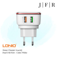 LDNIO Travel Adaptor Home Charger Dual USB Fast Charging A2405Q