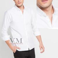 VM Kemeja Formal Putih Polos Panjang Slimfit (To Kcg-Putih) - Putih, XL