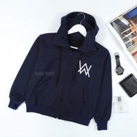 sweater jaket hodie ninja alan walker anak navy