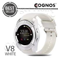Jam Tangan Pintar HP Watch Smartwatch Cognos V8 Bisa Kartu putih white