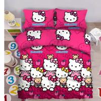 BED COVER SET FATA HELLO KITTY APPLE KARTUN ANAK 180X200 & 160X200