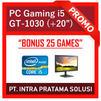 "PC Gaming Lengkap i5 + Nvidia + LED 20"" (Siap Pakai + Bonus Games)"